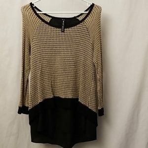Design Lab Womens Size Large Top Brown and black